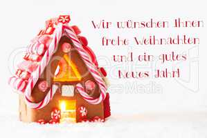 Gingerbread House, Weihnachten Neues Jahr Means Christmas New Year