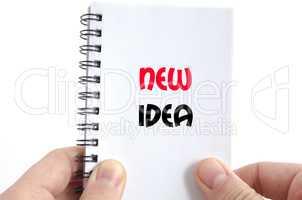 New idea text concept