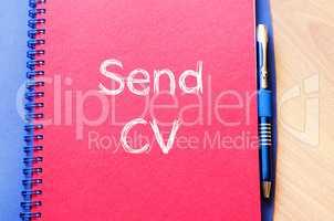 Send cv on notebook