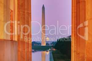 Washington Memorial monument in Washington, DC