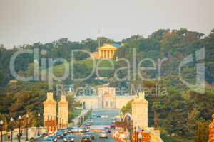 Washington, DC cityscape with Arlington National Cemetery