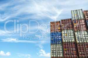 Container auf einem Containerschiff