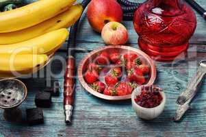 Hookah and fruit