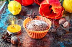 cupcake and tulips