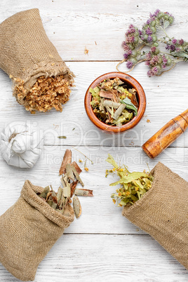 Bags with herbal