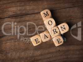 Earn more on wooden dices