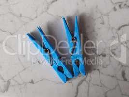 Blue Clothespin peg