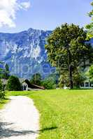 Idyllic landscape of Ramsau in Bavaria