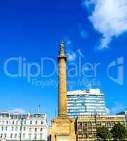 Scott monument, Glasgow HDR