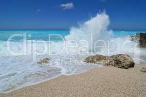 Big wave and splash