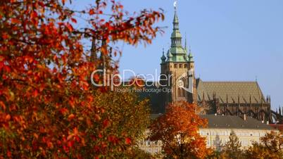 Saint Vitus Cathedral in the Autumn