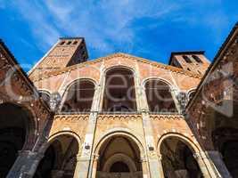 Sant Ambrogio church in Milan HDR