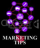 Marketing Tips Shows EMarketing Advice And Promotions