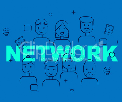 People Network Indicates Social Media And Togetherness