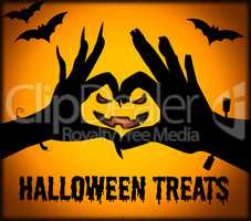 Halloween Treats Means Spooky Luxuries And Candy