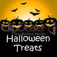 Halloween Treats Shows Spooky Luxuries And Candy