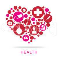 Health Icons Represent Healthy Healthcare And Wellness