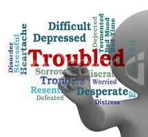 Troubled Word Represents Difficult Problem 3d Rendering