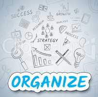 Organize Icons Indicates Management Organization And Arranging