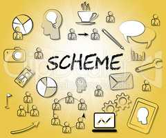 Scheme Icons Shows Tactic Schemes And Systems