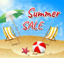 Summer Sale Retail Offer Seaside Discount Promotion
