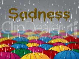 Sadness Rain Represents Sorrow Despair And Depression