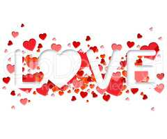 Love Word Represents Adoration devotion And Romance