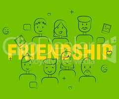 Friendship People Indicates Friendly Buddies And Togetherness