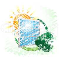 Solar Panel Shows Alternative Energy And Environment