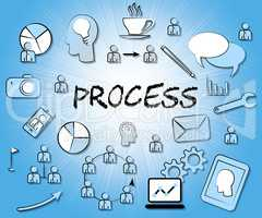 Process Icons Means Proceedure Method And Processing