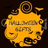 Halloween Gifts Represents Haunted Package Spooky Surprises