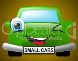 Small Cars Shows Compact Automobile Or Vehicle