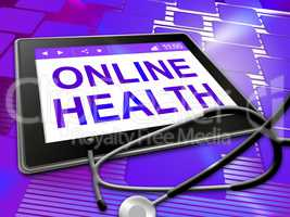 Online Health Shows Medical Wellbeing 3d Illustration
