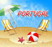 Portugal Vacations Indicates Portuguese Iberian Holiday Beach