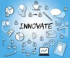 Innovate Icons Means Innovating Creative And Ideas