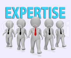 Expertise Businessmen Represents Master Skills 3d Rendering