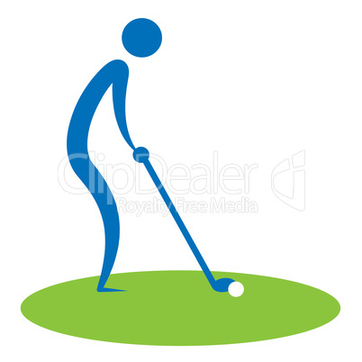 Man Teeing Off Shows Golf Courses And Golfing
