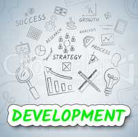 Development Icons Means Growth Progress And Evolution