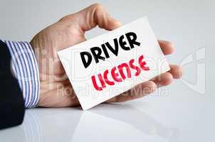 Driver license text concept