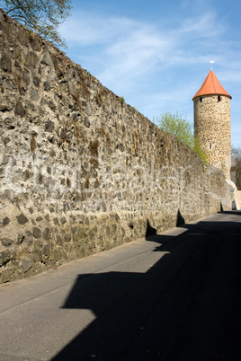 Historical old town wall