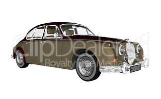 Vintage luxury car - 3D render