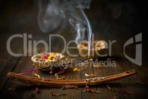 Incense stick. Aromatherapy