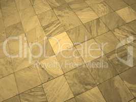 Floor tiles sepia