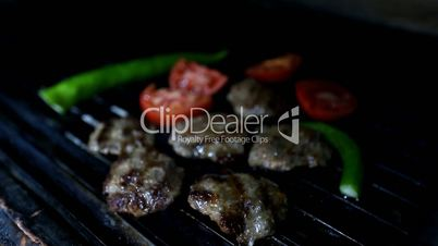 Turkish barbecue grilled meatball