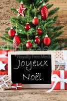 Colorful Tree With Text Joyeux Noel Means Merry Christmas