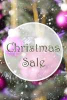 Blurry Vertical Rose Quartz Balls, Text Christmas Sale