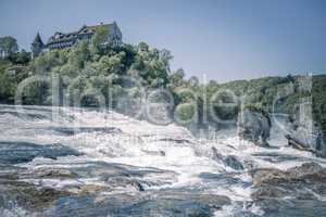 Rhine river and its waterfall