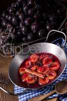 Fresh plum sauce with spices