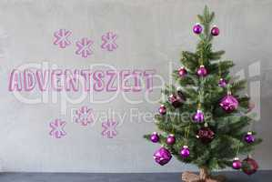Christmas Tree, Cement Wall, Adventszeit Means Advent Seasons