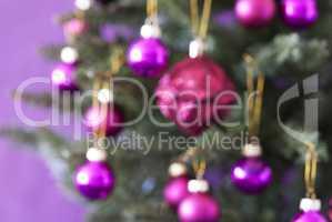 Blurry Christmas Tree And Rose Quartz Balls